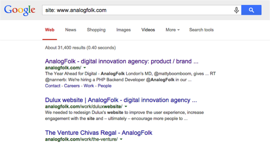 AnalogFolk Site Results